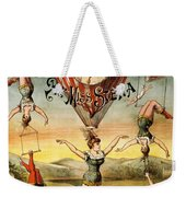 Descente D'absalon Par Miss Stena - Aerialists, Circus - Retro Travel Poster - Vintage Poster Weekender Tote Bag
