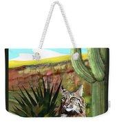 Desert Bobcat Weekender Tote Bag