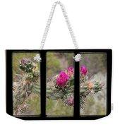 Desert Cactus Triptych Weekender Tote Bag