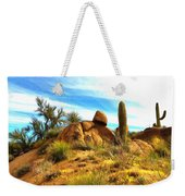 Desert Scene Near Sedona Arizona Painting Weekender Tote Bag