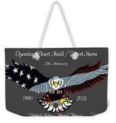 Desert Storm 25th Anniversary Weekender Tote Bag