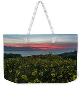 Desert Sunflowers Coastal Sunset Weekender Tote Bag