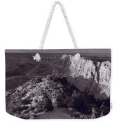 Desert View At Grand Canyon Arizona Bw Weekender Tote Bag