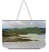 Desiderata Rugged Coastline Weekender Tote Bag