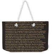 Desiderata Signature Collection Weekender Tote Bag