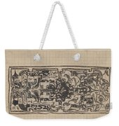 Design For A Binding For Charivaria, Carel Adolph Lion Cachet, 1874 - 1945 Weekender Tote Bag