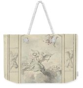 Design For A Ceiling Painting With Allegory Of Peace, Dionys Van Nijmegen, 1715 - 1798 Weekender Tote Bag