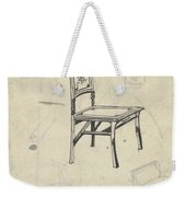 Design For A Chair, Carel Adolph Lion Cachet, 1874 - 1945 Weekender Tote Bag