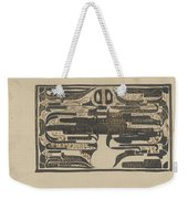 Design For A Charter On The Occasion Of Twelve-and-a-half-year Service, Carel Adolph Lion Cachet, 18 Weekender Tote Bag