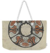Design For A Memorial Plaque With W And A Coat Of Arms, Carel Adolph Lion Cachet, 1874 - 1945 Weekender Tote Bag