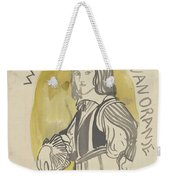 Design For A Painting In The Mailboot William II Prince Of Orange, Carel Adolph Lion Cachet, 1874 -  Weekender Tote Bag