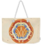 Design For A Plate With A Crowned W, Carel Adolph Lion Cachet, 1874 - 1945 Weekender Tote Bag