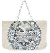 Design For A Plate With A Garden View, Carel Adolph Lion Cachet, 1874 - 1945 Weekender Tote Bag
