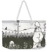 Design For End Paper Of Pierrot Weekender Tote Bag