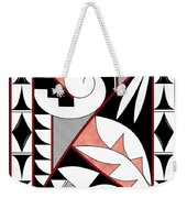 Southwest Collection - Design Four In Red Weekender Tote Bag