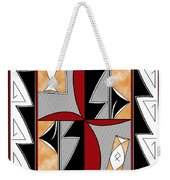 Southwest Collection - Design One In Red Weekender Tote Bag