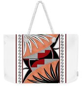 Southwest Collection - Design Three In Red Weekender Tote Bag