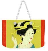 Designer Series Japanese Matchbox Label 128 Weekender Tote Bag