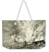 Destruction Of The Us Battleship Maine, 15th February, 1898 Weekender Tote Bag