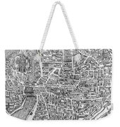 Detail From A Map Of Paris In The Reign Of Henri II Showing The Quartier Des Ecoles Weekender Tote Bag