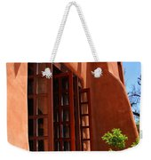Detail Of A Pueblo Style Architecture In Santa Fe Weekender Tote Bag