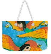 Detail Of Bird People Little Green Bee Eaters Of Upper Egypt 1 Weekender Tote Bag