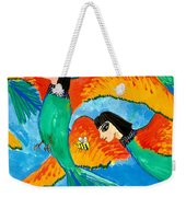 Detail Of Bird People Little Green Bee Eaters Of Upper Egypt 2 Weekender Tote Bag