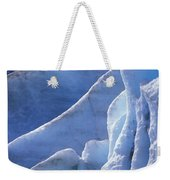 Detail Of Blue Ice On Exit Glaicer Weekender Tote Bag