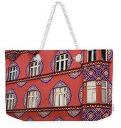 Detail Of Bright Facade Of The Cooperative Business Bank Buildin Weekender Tote Bag