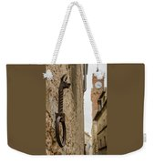 Detail Of Iron On A Wall Of Pienza, Tuscany, Italy Weekender Tote Bag