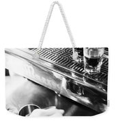 Detail Of Making Espresso Coffee With Machine Bw Weekender Tote Bag