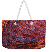 Detail Of Molten Lava Weekender Tote Bag