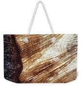Detail Of Sawing Wood With Bark Weekender Tote Bag