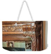 Detail Of Wood Carving And Tiles - Historic Fireplace Weekender Tote Bag