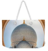 Detail View At Dome Of Sheikh Zayed Grand Mosque, Abu Dhabi, United Arab Emirates Weekender Tote Bag