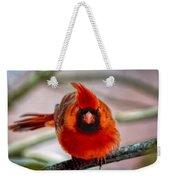 Determined Cardinal  Weekender Tote Bag
