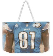 Detroit Lions Calvin Johnson 1 Weekender Tote Bag