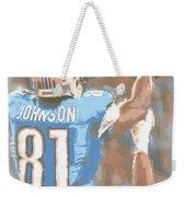 Detroit Lions Calvin Johnson 2 Weekender Tote Bag