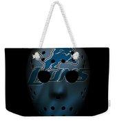 Detroit Lions War Mask 2 Weekender Tote Bag
