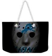 Detroit Lions War Mask 3 Weekender Tote Bag