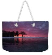 Detroit Point Sunset Off The Ice Weekender Tote Bag