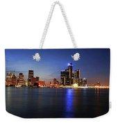 Detroit Skyline 1 Weekender Tote Bag by Gordon Dean II