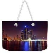 Detroit Skyline 4 Weekender Tote Bag