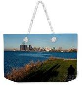 Detroit Skyline And Shadow Weekender Tote Bag