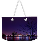 Detroit Skyline Weekender Tote Bag