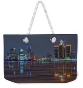 Detroit Skyline From Windsor In Hdr Weekender Tote Bag