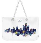 Detroit Skyline Silhouette Weekender Tote Bag