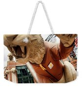 Detroit Tigers Tiger Statue Outside Of Comerica Park Detroit Michigan Weekender Tote Bag by Gordon Dean II