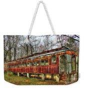 Devastation Railroad Passenger Train Car Fire Art Weekender Tote Bag