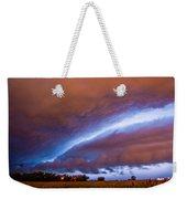 Developing Nebraska Night Shelf Cloud 007 Weekender Tote Bag